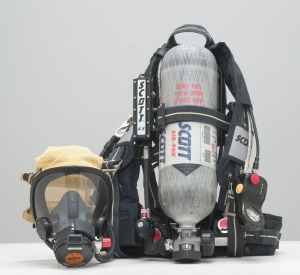 "Typical ""Scott Pack"" SCBA"