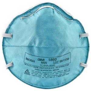 An example of an N95 mask effective for protection in early stages when properly fit tested.