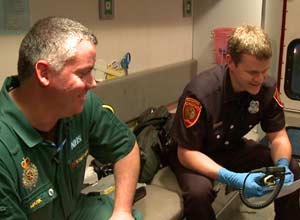 Justin with Medic999 himself: Mark Glencorse