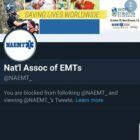 Blocked by the NAEMT